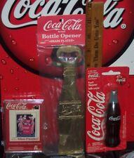 COCA - COLA BRAND BRASS PLATED BOTTLE OPENER MINI PUZZLE & PENCIL SHARPENER