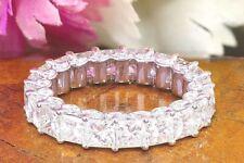 14K WHITE GOLD ROUND CUT DIAMONDS ETERNITY BAND ANNIVERSARY PRONG BRIDAL 4.00CTW