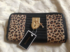 Leather Ladies wallet Juicy Couture leopard print, multi-fabric BNWT