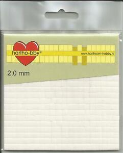 Klebepads - 5 x 5 mm - weiß - verschiedene Stärken - 3D-Pads - 3D - Klebekissen