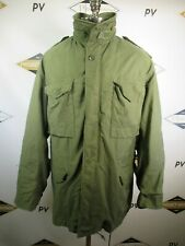 E8665 VTG US ARMY M-65 Cold Weather Field Coat Military Jacket Size L