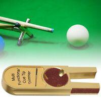 Gold Cue Tips Clamp Repair Tool Shaper Billiard Pool Snooker Repair Upgrade Kits