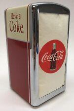 Vtg 1992 Coke Napkin Dispenser W/napkins Inside