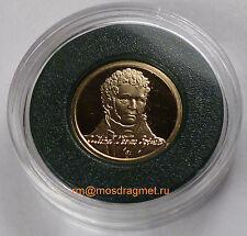 2011 Belarus Michal Kleofas Oginski PROOF 1 gramm Gold 10 roubles COA sealed