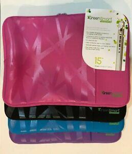 "Universal 15.4"" Laptop Soft Sleeve Carry Case 2 Zipper Compartment Akepa New"