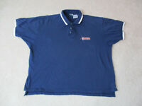 VINTAGE Nike Polo Shirt Adult Extra Large Navy Blue Tennis United States Rugby *