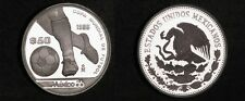 1986 Mexico Large Proof Silver 50 pesos-World Cup Soccer-Ball/Legs