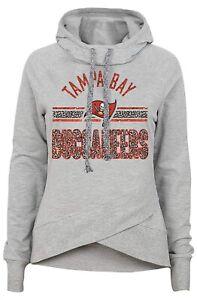 NFL Juniors XS Tampa Bay Buccaneers Leopard Print Funnel Neck Hoodie Outerstuff