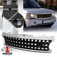 For 2006-2009 Range Rover L322 {X-MESH} Glossy Chrome/Black Bumper Grille Grill