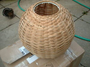 Wicker Lampshade Lightning's Fixture Used