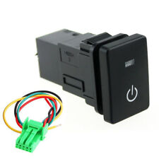 Blue LED Power Lights Push Button Switch Laser For Toyota Camry Prius Corolla