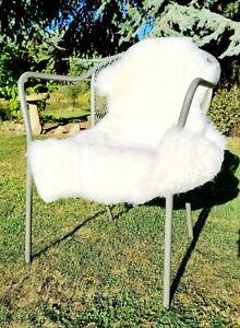 XXL Medical Grade Eco British White  Sheepskin Rug - 110cm by 70cm A++ (4225)
