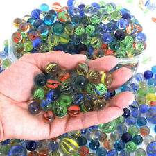 10/20PCS 14mm Colorful Glass Marbles Kids Marble Run Game Marble Solitaire Toys
