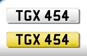 TGX 454 CHERISHED NUMBERS PERSONAL PLATE