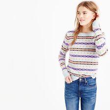 j.crew wool fairisle intarsia crewneck sweater xs