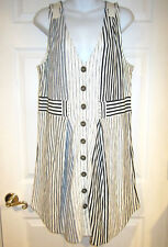 Marc by Marc Jacobs Mixed Stripes Dress sz L blue navy ivory jersey knit NEW