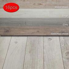16 PCS Vinyl Floor Planks Adhesive Floor Tiles 2.0mm Thick Easy Installation