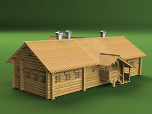 Peter's I House, Wooden Kit, scale 1:72