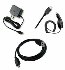 for Alcatel Micro USB Devices Car+Home Charger + Data Cable Accessory Bundle Kit
