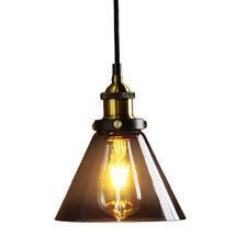 Metal Finish Black Gray Glass Shade Loft Pendant Lamp Ceiling Light fitting D8H0