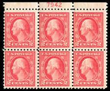 momen: US Stamps #463 Plate Block of 6 Mint OG NH