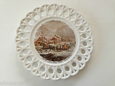 "Currier & Ives American Farm Scenes - Winter, 9-5/8"" Collectible Plate"