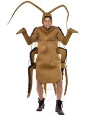MENS BROWN COCKROACH FANCY DRESS COSTUME BUG INSECT HALLOWEEN OUTFIT BODY SUIT