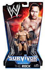 Wwe Survivor Series_Heritage Collection_The Rock 6 inch action figure_New & Mip