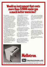 Mellotron  *LARGE POSTER*  Keyboard synth PROMO ad chamberlin