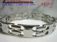"1 New High Quality Men's Stainless Steel Bracelet ,About 8 1/4""L, 3/8"" W  OK4032"