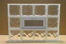 32 x 24 Vented Glass Block Window Wave Pattern