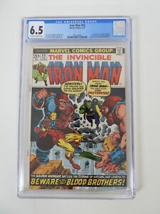 Iron Man #55 1st appearance of Thanos CGC 6.5 Off-White to White Pages