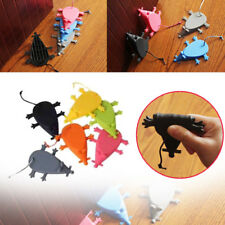 Silicone Rubber Animal Mouse Door Stop Wedge Christmas Decor Color Random