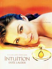 Publicité Advertising 107  2000  parfum femme  Intuition par Estèe Lauder