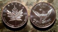 Canadian Maple Leaf 1oz. Pure Copper Bullion Round!!