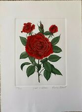 Just a Blush by Barbie Tidwell - Hand Colored Etching
