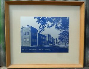 VINTAGE MARCONI CHELMSFORD - GREAT BADDOW RESEARCH LABORATORIES FRAMED PRINT