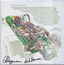 Clive Chapman and Bob Dance Hand Signed Lotus Post Card Very Rare F1.