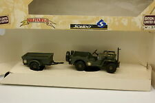 Solido Militare 1/43 - Jeep Coppia Cavo + rimorchio