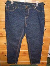 Wild And Sexy! Size 16W Faded Glory Leopard Print Skinny Jeans