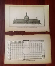 1880 Architectural Plan and South Elevation of Dept of Agriculture Bldg
