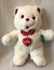 "17"" Fairview Plush White Teddy Bear Valentine's Day Can't Bear It Without You"