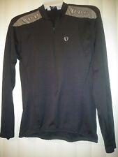 Pearl Izumi BLK Long Sleeve Jersey, Women Med, Quarter Zip, Back Bottle Pockets