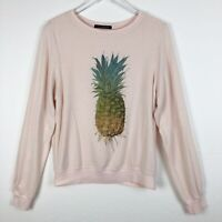 Pink Pineapple Women's 100% Cashmere Short Sleeve Pullover