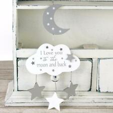 Baby Sentiment Hanging Plaque Love You To The Moon and Back CG1421