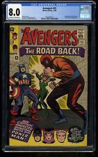 Avengers #22 CGC VF 8.0 Off White to White Marvel Comics Thor Captain America