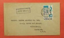 DR WHO 1961 GIBRALTAR AIRMAIL TO USA 183475