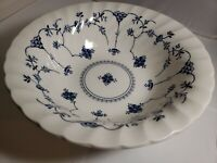 "Churchill Finlandia SERVING BOWL Blue and White Floral Swirl 9.25"" Fine China"