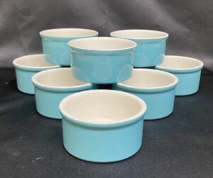Set of 12 Mini Souffle Ramekins Teal Blue FARBERWARE Baker's Advantage 7oz