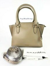 Authentic Brahmin Mini Priscilla Sand Topsail Leather Satchel/Xbody --NWT $325
